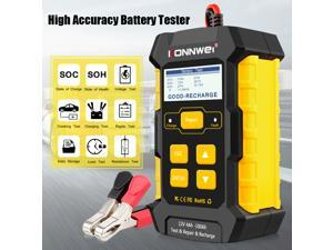 KONNWEI 3 IN 1 Auto Battery Tester Health Checking Intelligent Repairing Tools Voltage Test Automotive Pulse Repair Maintainer, Trickle Charger Battery Desulfator for Car,Motorcycle,Lawn Mower,Boat
