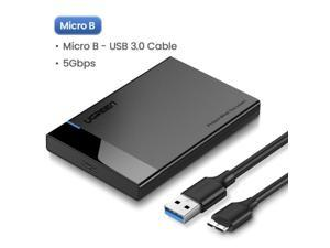 """LUOM 2.5"""" Hard Drive Enclosure, USB3.0 to SATA External Hard Disk Case for 9.5/7mm HDD SSD w/UASP 6Gbps 4TB Tool Free for WD Seagate Toshiba Samsung"""