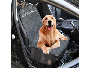 Beststar Pet Single Seat Cover, Deluxe Pet Front Seat Cover for Cars with New Non-slip Pads - Machine Washable and Waterproof Oxford Quilted Fabric (Black)
