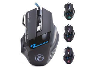 ESTONE Professional Wired Gaming Mouse, X7 Gaming Mice 7 Button 5500 DPI LED Optical USB Gamer Computer Mouse Mice Cable Mouse  for Pro Game Notebook, Laptop, PC, Computer