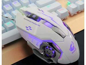 LUOM 6 Button 4000 DPI USB Wired Mechanical Gaming Mouse Mice 4 LED Backlit Optical Professional Game Mouse Mice for PC Laptop