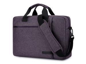 BRINCH Laptop Bag 13.3 Inch, Stylish Fabric Laptop Messenger Shoulder Bag Case Briefcase for 13 - 13.3 Inch Laptop / Notebook / MacBook / Ultrabook / Chromebook Computers (Purple)