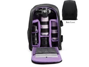 BRINCH Camera Backpack Camera bag in Purple for DSLR SLR Cameras , Laptops ,Tripod and Accessories