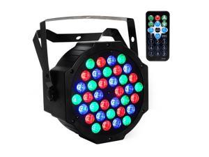 A-LIGHT Stage Lighting Par Light 36x1W LED RGB 7 Channel with Remote controller for DJ KTV Disco Party Bar