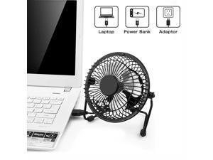 RCF AF8 Desktop USB Fan with Upgraded 6 Inch Blades, Enhanced Airflow, Lower Noise, Metal Design, USB Powered, Personal Table Fan, Mini Cooling Fan, Small Desk Fan, Quiet Office Fan - Black