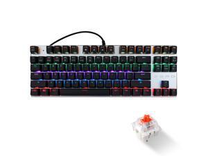 ZERO Mechanical Gaming Keyboard, 104 Keys Black Switch USB Wired Gaming Keyboard with LED Mix-light Anti-ghosting Blacklit for Gamer Tablet Desktop Computer (104 Keys,Black Switch,Black)
