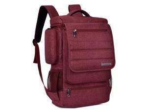 SOCKO Laptop Backpack, Anti-tear Water-resistant Luggage Travel Knapsack Rucksack Backpack Hiking Bag Student College Shoulder Backpack for 17 - 17.3 Inch Laptop Notebook Macbook Computer-Red