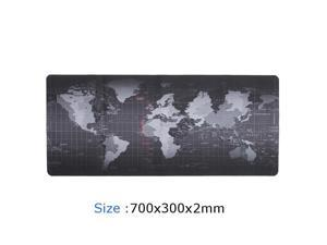 """LUOM Extended XL Gaming Mouse Pad - 27.5""""x11.8""""x0.08"""" Dimension - Portable with Extended XL Size - Non-slip Rubber Base - Special Treated Textured Weave with Precision Control (worldmap)"""