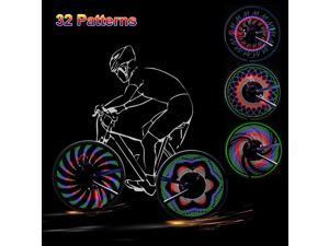 LUOMs Bike Wheel Lights - LED Bicycle Spoke Light, USB Rechargeable Bike Light,32LED/32Patterns Bicycle Rim Light