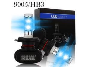 LUOMs 9005/HB3 Automotive LED Headlights Bulbs Car Headlight Kit,8000LM,50w/Set 6500K Cool White,IP68 Waterproof ,6PCS LED/Each Bulb,(Pack of 2)