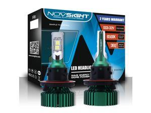 Novsight Car LED Headlight Bulbs, 9005/HB3 60W 10000LM 6500K Cool White All-in-One Automotive Conversion Bulb, Extremely Super Bright CREE XHP50 LED Chips, IP68 Waterproof,-2 Years Warranty