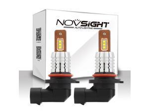 Novsight 9006/9012/HB4 Car LED Fog Light Blubs, Extremely Bright 60W 1,800 Lumens 6,000K Cool White Car Fog Light Conversion Kit,with CREE XBD Lamp Beads for Fog Light,Back-Up Light,Brake Light
