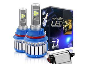 9007/HB5 Hi/Lo LED Headlight Bulbs Convex LED Chilps 70W 6000K 7200LM High Beam/Low Beam/Fog Lights Cool White Conversion Kit+ Canbus-2 Yr Warranty