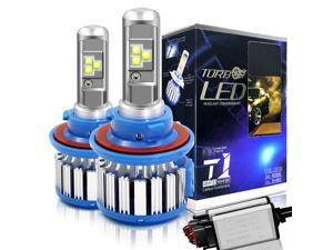 H13/9008 Hi/Lo LED Headlight Bulbs Convex LED Chilps 70W 6000K 7200LM High Beam/Low Beam/Fog Lights Cool White Conversion Kit+ Canbus-2 Yr Warranty