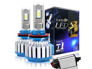 H11/H8/H9 LED Headlight Bulbs Convex LED Chilps 70W 6000K 7200LM High Beam/Low Beam/Fog Lights Cool White Conversion Kit+ Canbus-2 Yr Warranty