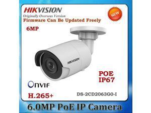 HIKVISION English Version DS-2CD2063G0-I 6MP IP Camera Support EZVIZ ONVIF POE IR 30M Day/Night IP67 Outdoor Security Camera (6MP, 4 mm Lens)