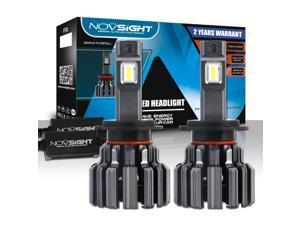 NOVSIGHT H7 LED Headlight Bulbs Conversion Kit - 80W/Pair Extremely Brigh Up to 12000 Lumen/Pair - 6000K Cool White 360°Illuminate - H7 Car Headlights - 2 Years Warranty