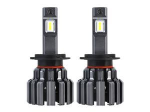 NOVSIGHT Extremely Bright 80W 12000 Lumens H7 LED Headlight Bulbs,Automotive Grade LED Chips Conversion Kit,6000K Cool White