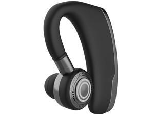 LUOM Bluetooth Headset Bluetooth Earpiece Business Headphones Ear Hooks HD Stereo Noise Cancelling in-Ear Earbuds Mic Voice Control Business/Office/Driving Call (Black)