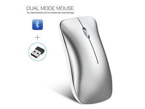 HXSJ T23 Mouse Wireless Mouse Mice Ergonomic Vertical Mice BT 2.4Ghz Wireless High Speed Rechargeable Optical Sensor for Windows 98/Me/2000/XP/Vista/7/8/10/Vista Mac OS or latest - White