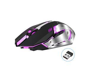 HXSJ M10 Rechargeable Wireless Gaming Mouse 2400dpi 7 color Backlight Breathing Comfort Gamer Mice for Computer Desktop Laptop