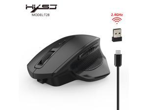 a1b44eb47f1 HXSJ T28 2.4G Wireless Vertical Mouse Ergonomic Vertical USB Mouse with  Adjustable Sensitivity (800