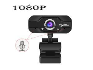 US inventory Computer Camera HD Webcam with Mic 1080P 720P Fixed (for)Focus High-end video Call Camera for PC, Desktop or Laptop, 1920 * 1080 Dynamic Resolution