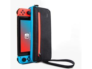 Slim Nintendo Switch Case,WiWU Switch Case with 5 Game Slots in Side Pocket Portable Travel Carry Case Waterproof Scratch-Resistant Protective Sleeve Pouch Bag for Nintendo Switch & Accessories, Black