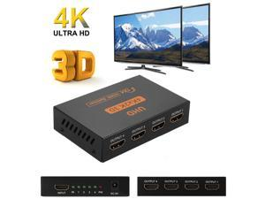 LUOM Ultra HD 4K HDMI Splitter 1X4 Port 3D UHD 1080p 4K*2K Video HDMI Switch Switcher HDMI 1 Input 4 Output HUB Repeater Amplifier