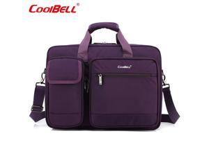 LUOM  Laptop Bag 17.3 Inch Laptop Briefcase Laptop Messenger Bag Water Repellent Computer Case Laptop Shoulder Bag Durable Tablet Sleeve for Business/College/Women/Men Fits 17.3 Inch Laptop- Purple