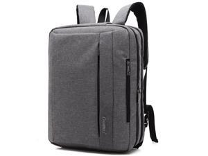 CoolBELL 15.6 Inches Convertible Laptop Messenger Bag Shoulder Bag Backpack Oxford Cloth Multi-Functional Briefcase for Laptop/MacBook/Tablet (CB-5501 Gray)