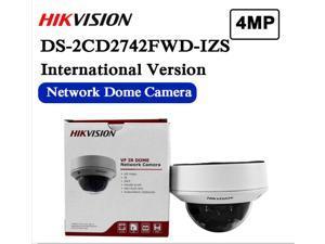 Hikvision DS-2CD2742FWD-IZS English Version IP 4MP WDR Vari-focal Dome Camera POE Security Audio Alarm CCTV Motorized Lens WDR