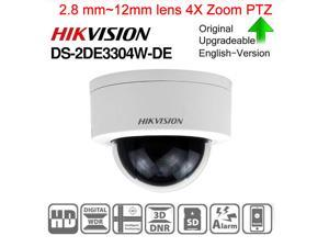 Hikvision DS-2DE3304W-DE Outdoor Day/Night Network Mini PTZ Dome Camera, 3MP, 4X 2.8 mm~12mm lens Optical, 1080P, Surface Mount, POE/12VDC, H.264 Video Compression Format Support Upgrade , 1-Pack