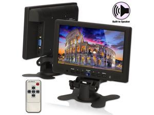 "TPEKKA 7"" LED CCTV Mini HD Monitor Audio Speaker HDMI VGA for PC Car Security Camera Technical grade Easy-to-use"