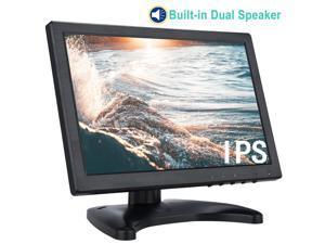 "TPEKKA HDMI CCTV Monitor 10.1"" Inch HD 1280x800 IPS LCD USB Monitor with HDMI/USB/BNC/VGA/AV Input Dual Speakers 3.5mm Earphone Jack for PC Raspberry Pi Gaming Display DVR CCTV Cam Home Office"