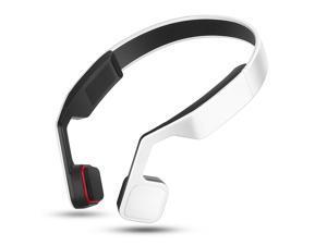 Lian LifeStyle Premium Bone Conduction Headphones Lightweight & Waterproof w/ Mic & Bluetooth Wireless Over Ear Headset Suitable for Sports LLSYKL701R3 (White)
