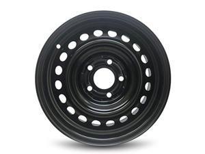 New 15x6 Honda Civic (06-11) 5 Lug Steel Rim Black Full Sized Replacement Steel Wheel