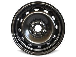 New 15x6 Fiat 500(12-15) 4 Lug Gray Full Size Replacement Steel Wheel Rim