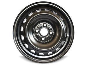 New 15x5 Toyota Prius (12-19) Yaris (12-19) 4 Lug Black Full Size Replacement Steel Wheel Rim