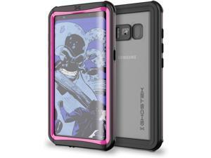 Galaxy S8 Plus Waterproof Case, Ghostek Nautical Series for Samsung Galaxy S8+ | Slim Underwater Full Body Protection Shockproof Dirtproof Snow-Proof Dust-Proof Adventure Tough Swimming Diving (Pink)