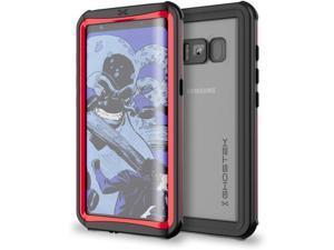 Galaxy S8 Plus Waterproof Case, Ghostek Nautical Series for Samsung Galaxy S8+ | Slim Underwater Full Body Protection Shockproof Dirtproof Snow-Proof Dust-Proof Adventure Tough Swimming Diving (Red)