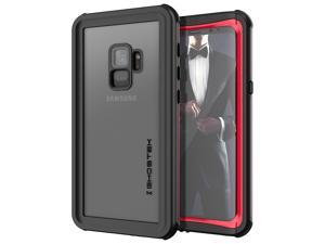 Ghostek Nautical Galaxy S9 Waterproof Case with Screen Protector Extreme Heavy Duty Protection Slim Rugged Shockproof Full Body Underwater Watertight Seal Cover for 2018 Galaxy S9 (5.8 Inch) - (Red)