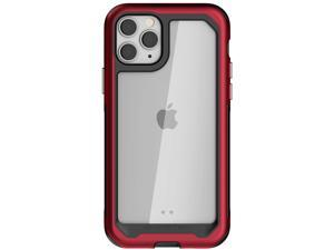 "Ghostek Atomic Slim Designed for iPhone 11 Pro Max Case Clear Bumper (6.5"" Screen) Heavy Duty Protection Wireless Charging Compatible Military-Grade Aluminum Metal 2019 iPhone 11 Pro Max (6.5"") - Red"