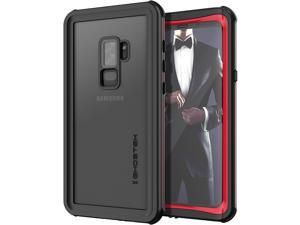 Ghostek Nautical Galaxy S9 Plus Waterproof Case with Screen Protector Slim Extreme Heavy Duty Protection Tough Shockproof Full Body Underwater Watertight Seal for 2018 Galaxy S9+ (6.2 Inch) - (Red)