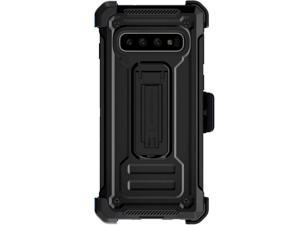 Ghostek Iron Armor2 Rugged Case with Holster Belt Clip Designed for Galaxy S10 – Black