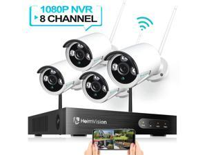 HeimVision HM241 1080P 8CH NVR 4Pcs Outdoor Wireless Security Camera System, , Hard Drive is NOT Included