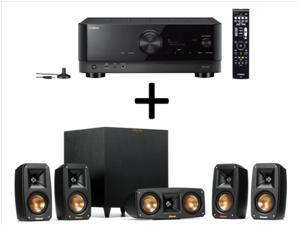 Yamaha TSR-700 7.1 Channel AV Receiver with 8K HDMI and MusicCast & Klipsch Reference 5.1 Channel Surround Sound System Bundle