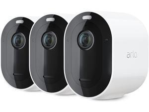 Arlo VMC4350P-100NAR Pro 4 Spotlight Camera 3 Pack Wireless Security, 2K Video & HDR, Color Night Vision, 2 Way Audio, Wire-Free, Direct to WiFi No Hub Needed, White
