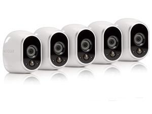 Arlo by NETGEAR Security System- 5 Wire-Free HD Cameras Indoor/Outdoor with Night Vision (VMS3530-100NAR)