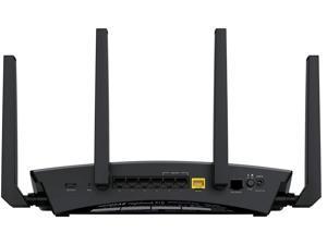 NETGEAR R9000-100NAR Nighthawk X10 AD7200 Band 1: 800 Mbps @ 2.4 GHz - 256 QAM Band 2: 1733 Mbps @ 5 GHz - 256 QAM Band 3: 4600 Mbps @ 60 GHz - SC